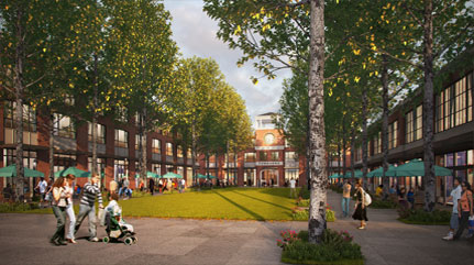 Tamanend Community Town Center artistic representation of courtyard area