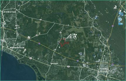 Tamanend area location satellite map