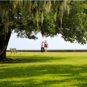 St. Tammany Parish's beautiful shore along Lake Pontchartrain.