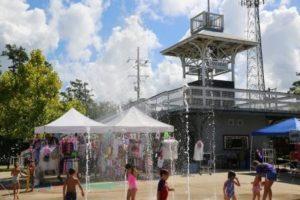 The Mandeville Trailhead includes a splash park.