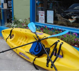 my kayak at Bayou Adventure