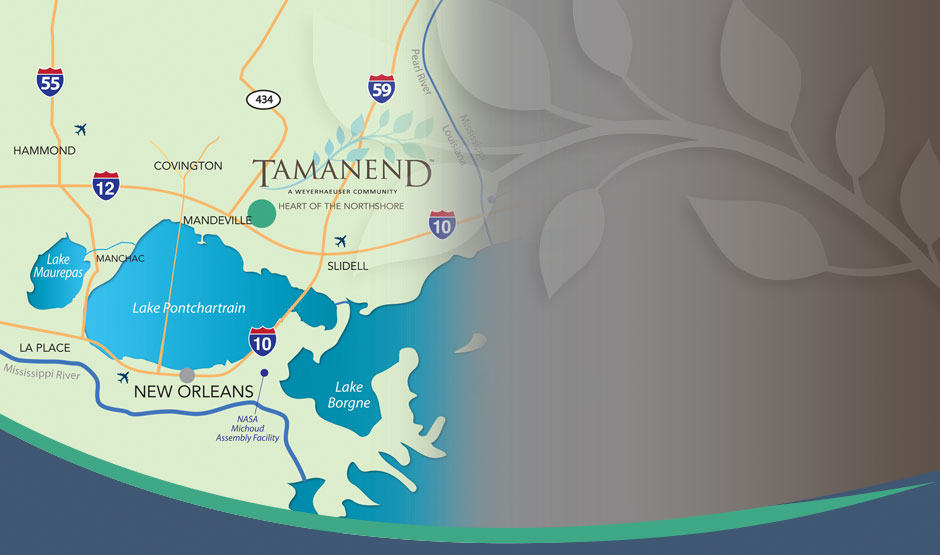 Area location map of Tamanend